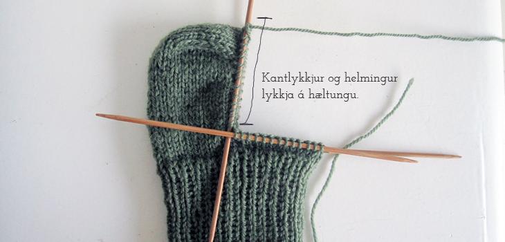 Prjóna sokka með Halldóruhæl - leiðbeiningar - www.skritin.is