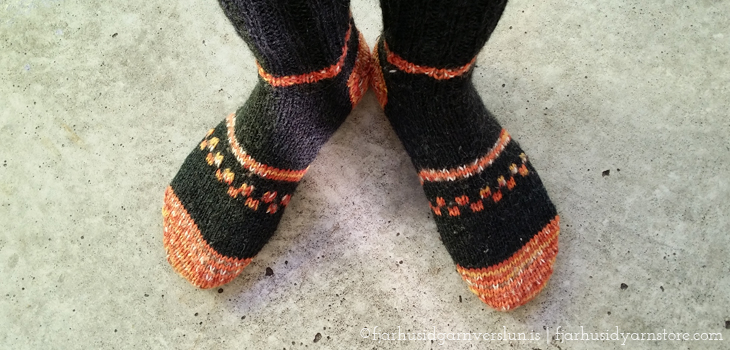 knitted socks, heel instructions | Fjarhusid Yarn Store